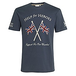 Help for Heroes - Grey cross flag design T-shirt