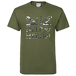 Help for Heroes - Green flag and logo t-shirt
