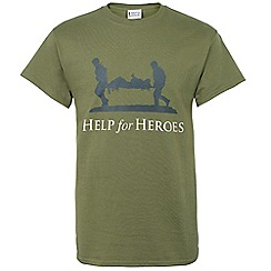 Help for Heroes - Green logo t-shirt