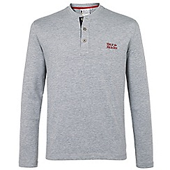 Help for Heroes - Grey Long Sleeve Button Neck T_shirt