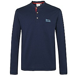 Help for Heroes - Navy Long Sleeve Button Neck T-Shirt