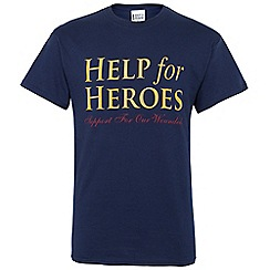 Help for Heroes - Navy-Mustard Essential logo T-shirt
