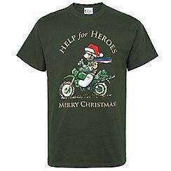 Help for Heroes - Christmas Biker Bear T-Shirt