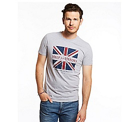 Help for Heroes - Grey marl distressed flag t-shirt