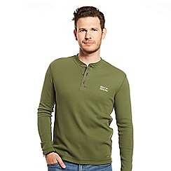 Help for Heroes - Long sleeve green jersey henley t-shirt