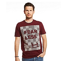 Help for Heroes - Maroon fearless logo t-shirt