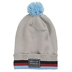 Help for Heroes - Soft grey bobble hat with trim