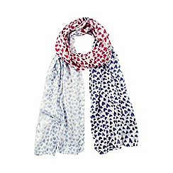Help for Heroes - Hearts tri-colour scarf
