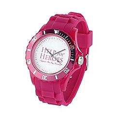 Help for Heroes - Rhubarb pink casual watch
