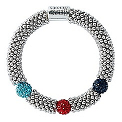 Help for Heroes - Tri colour elasticated bead link bracelet