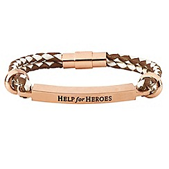 Help for Heroes - Women's Pearl and Copper Leather ID Bracelet