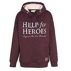 Help for Heroes - Plum pull on hoody