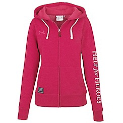 Help for Heroes - Raspberry marl zipped hoody