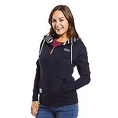 Help for Heroes - Navy zip up hoody with stripe hood