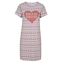 Help for Heroes - Lilac Fair isle nightshirt