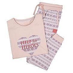 Help for Heroes - Peach Fair isle pyjama set