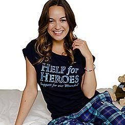 Help for Heroes - Women's Navy Applique T-Shirt