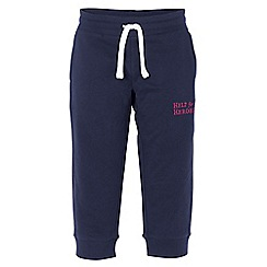 Help for Heroes - Navy sweatpant embroidered capri joggers