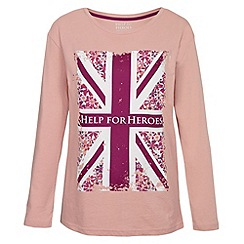 Help for Heroes - Blush floral flag long sleeve T-shirt