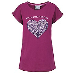Help for Heroes - Berry sequin heart T-shirt