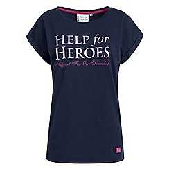 Help for Heroes - Navy boyfriend T-shirt