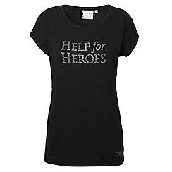 Help for Heroes - Black bling boyfriend T-shirt