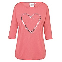 Help for Heroes - Dusky pink slouch t-shirt