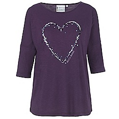 Help for Heroes - Autumn Purple Sequin Slouch T-Shirt