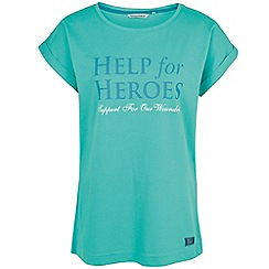 Help for Heroes - Turquoise boyfriend t-shirt