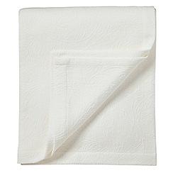 Morris & Co - Light cream patterned 'Acanthus' bedspread