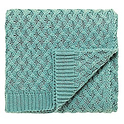 V & A - green 'Alhambra' knitted throw