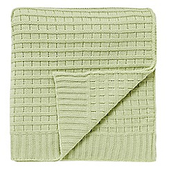 Helena Springfield - Pale green 'Chatsworth' blanket