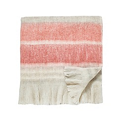 Sanderson - Multicoloured wool mix 'Magnolia' blanket
