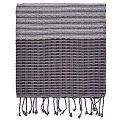 Bedeck 1951 - Dark purple cotton 'Minoa' throw