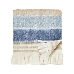 Sanderson - Natural wool mix 'Rosa' blanket