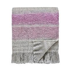 Sanderson - Light purple wool mix 'Wisteria Falls' blanket