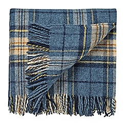 Morris & Co - Blue 'Woodford Plaid' blanket