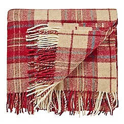 Morris & Co - Red 'Woodford Plaid' blanket