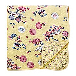 V & A - Yellow cotton 'Emiri' throw