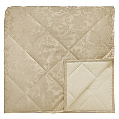 Helena Springfield - Light gold quilted 'Flora' throw