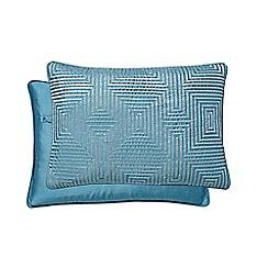 Hotel - Dark turquoise polyester 'Alinea' cushion