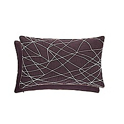 Harlequin - Plum cotton 'Asuka' cushion