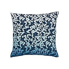 Clarissa Hulse - Blue cotton canvas 'Bamboo' cushion