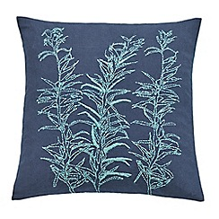 Clarissa Hulse - Blue cotton 'Backing Cloth' cushion
