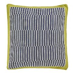 Harlequin - Multicoloured 'Bahia' knitted cushion
