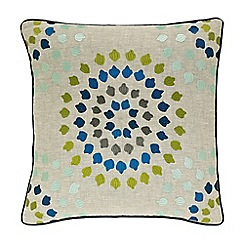 Harlequin - Multicoloured 'Bahia' embroidered cushion