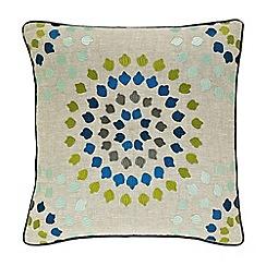 Harlequin - Multicoloured 'Bahia' embroidered cushion