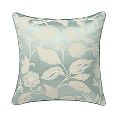 Sanderson - Aqua 'Bird Blossom' cushion