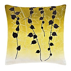 Clarissa Hulse - yellow 'Boston Ivy' cushion