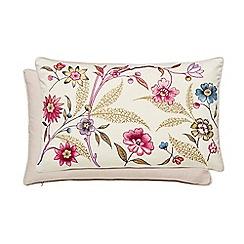 V & A - Multicoloured cotton sateen 'Botanica' cushion